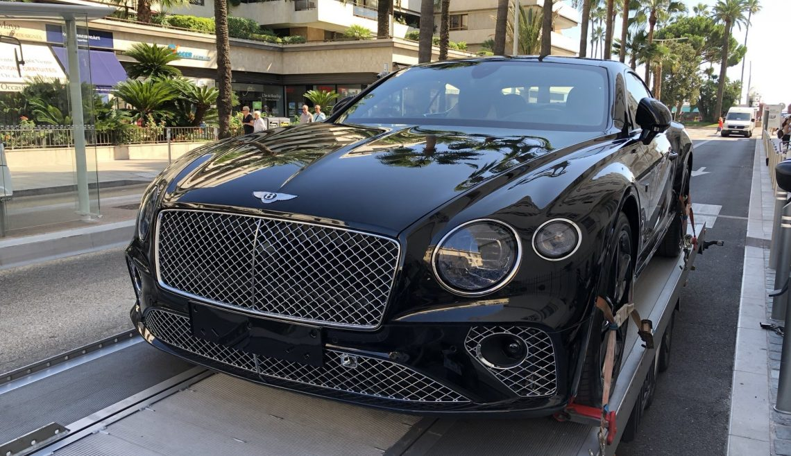Bentley Continental Gt My 2019 Von Cannesfr Nach Hamburg Vh
